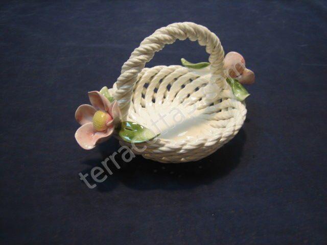 Декоративная керамическая Корзинка круглая,...
