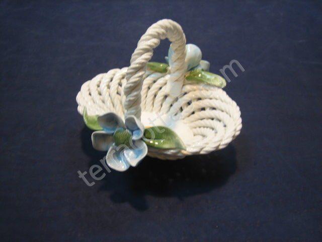 Декоративная керамическая Корзинка, L14cm, h10cm